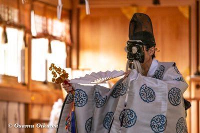 平成30年 函館市 戸井地区 宮川神社 本祭 松前神楽 三番叟