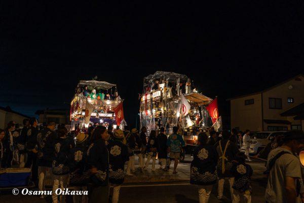 平成30年 江差町 姥神大神宮渡御祭 下町巡行 町内に戻る山車