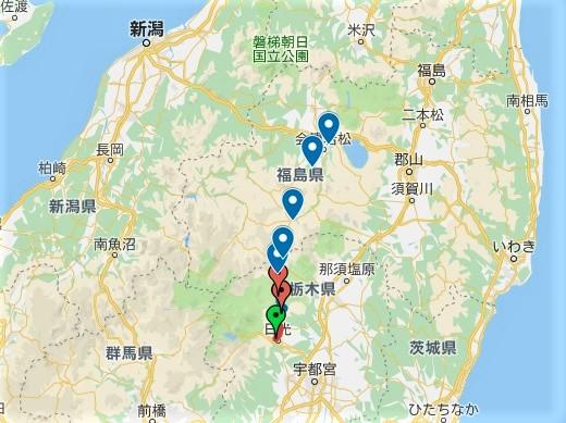 街道を歩く【会津西街道】の全歩行軌跡(順次追加)