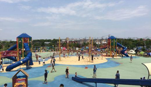 大和ゆとりの森の超大型複合遊具と水遊び広場をレポート