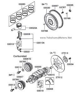 Mitsubishi 4A30 Turbo & Non-Turbo Internal Engine Parts