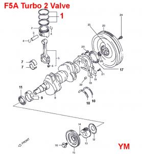 Suzuki Carry F5A Piston Rings: Turbo Vehicles DA71V