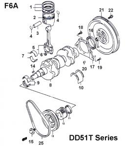 Engine Components: Suzuki F6A
