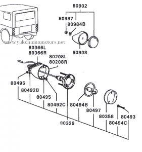 Mitsubishi Jeep: J50, J20 Series: Rear Turn Signal Lamp Lens