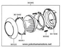 Mitsubishi Jeep: J55, J53 Front Lighting: Headlamp Kit 24V