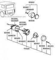 Mitsubishi Jeep: J50, J20 Series: Rear Body Reflector