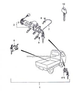 Suzuki Carry Every DD51T, DE51V Door Lock Kit: LH