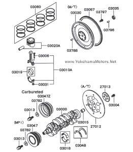 Mitsubishi Minicab Bravo 4A30 Engine Series: Piston Ring