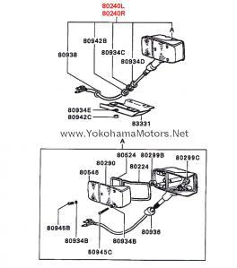 Mitsubishi Jeep: J50, J20 Series: Front Fender Turn Signal