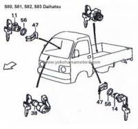 Daihatsu Hijet S65, S80P, S81P, S80V, S81V, S83P, S83V Parts