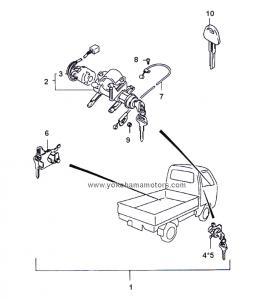 Suzuki Carry Every DD51T, DE51V Ignition Switch