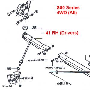 Daihatsu Hijet Front Lower A-Arm RH S80 Series (all) 4WD