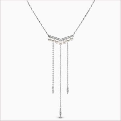 Yoko London Trend Diamond and Freshwater Pearl Necklace