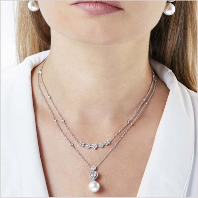 Yoko London Starlight Diamond and Golden South Sea Pearl Necklace