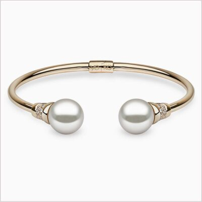 Novus Diamond and Freshwater Pearl Bracelet - Yoko London