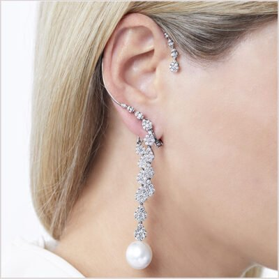 Yoko London Novus South Sea Pearl and Diamond Ear Cuff