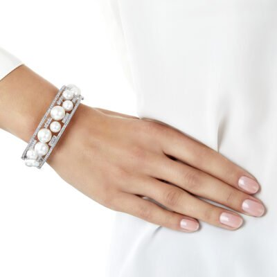 Yoko London Mayfair Diamond and South Sea Pearl Bracelet