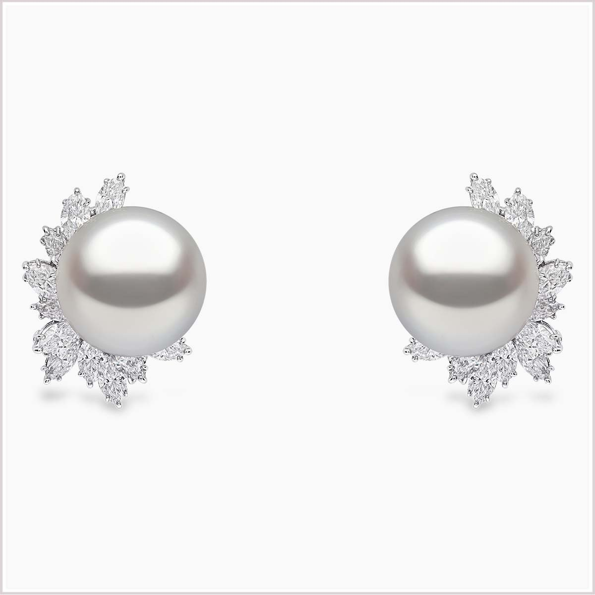 Yoko London Mayfair Diamond and South Sea Pearl Earrings