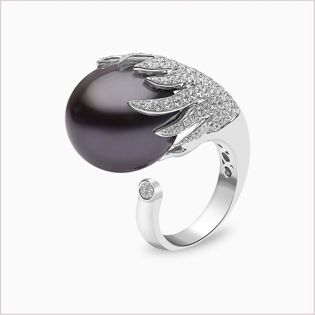 Yoko London Twilight Diamond and Tahitian Pearl Ring