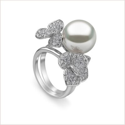 Petal South Sea Pearl and Diamond Ring