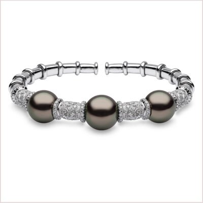 Yoko London Twilight Diamond and Tahitian Pearl Bangle