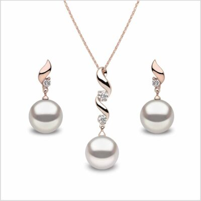 Yoko London Classic South Sea Pearl and Diamond Pendant and Earring Set