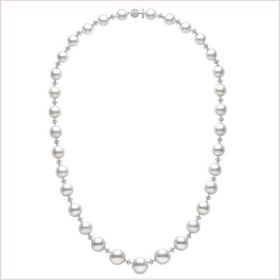 Novus South Sea Pearl and Diamond Necklace and Bracelet