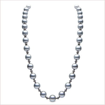 Yoko London Novus Diamond and Tahitian Pearl Necklace