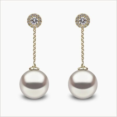 Yoko London Classic Freshwater Pearl and Diamond Earrings