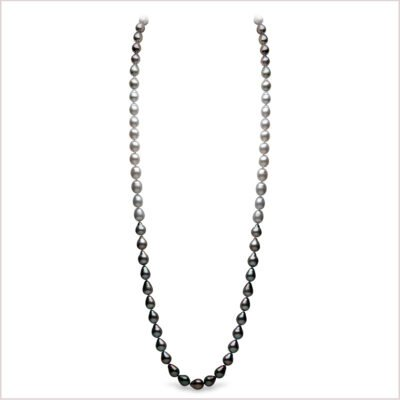 Yoko London Ombré Diamond, Tahitian Pearl and South Sea Pearl Necklace