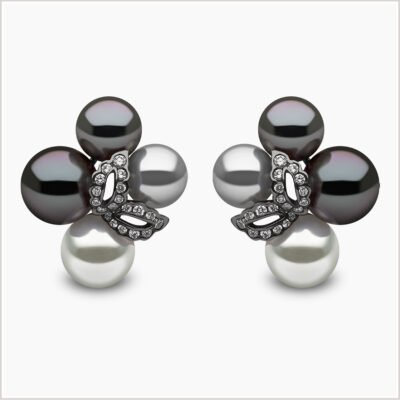 Yoko London Twilight Diamond, South Sea and Tahitian Pearl Earrings
