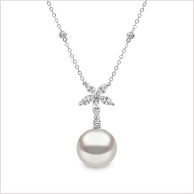Yoko London Petal South Sea Pearl & Diamond Pendant
