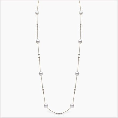 Yoko London Novus Diamond and South Sea Pearl Necklace