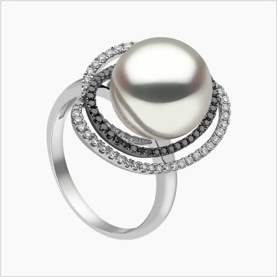 Twilight Diamond and South Sea pearl Ring