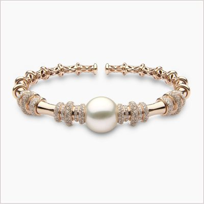 Yoko London Radiant Orchid South Sea Pearl and Diamond Bangle