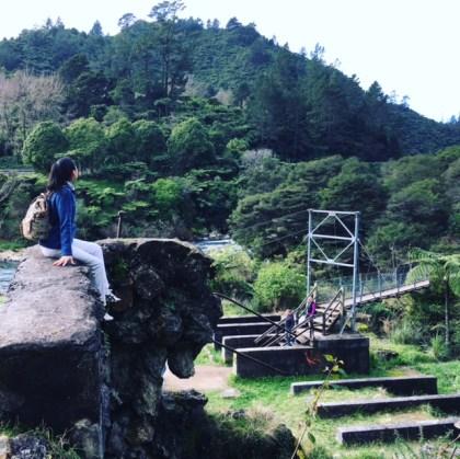 カランガハケ峡谷 吊り橋