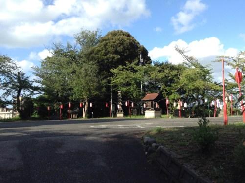 愛染寺駐車場到着