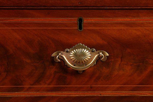Antique William IV Scottish Flame Mahogany Linen Press (Circa 1835)