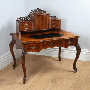 Antique Louis XV Revival French Walnut & Leather Bonheur Du Jour Desk (Circa 1870)