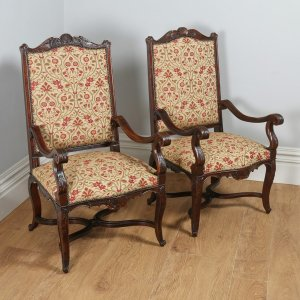 antique english pair of chippendale style mahogany library. Black Bedroom Furniture Sets. Home Design Ideas