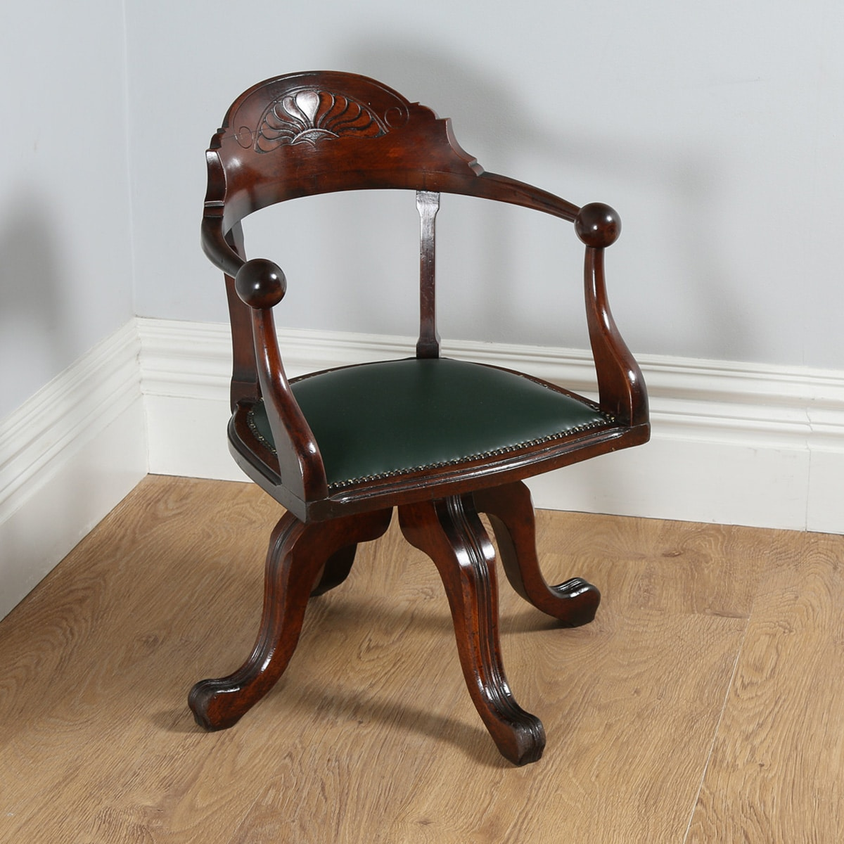 revolving desk chair parts names antique victorian mahogany office