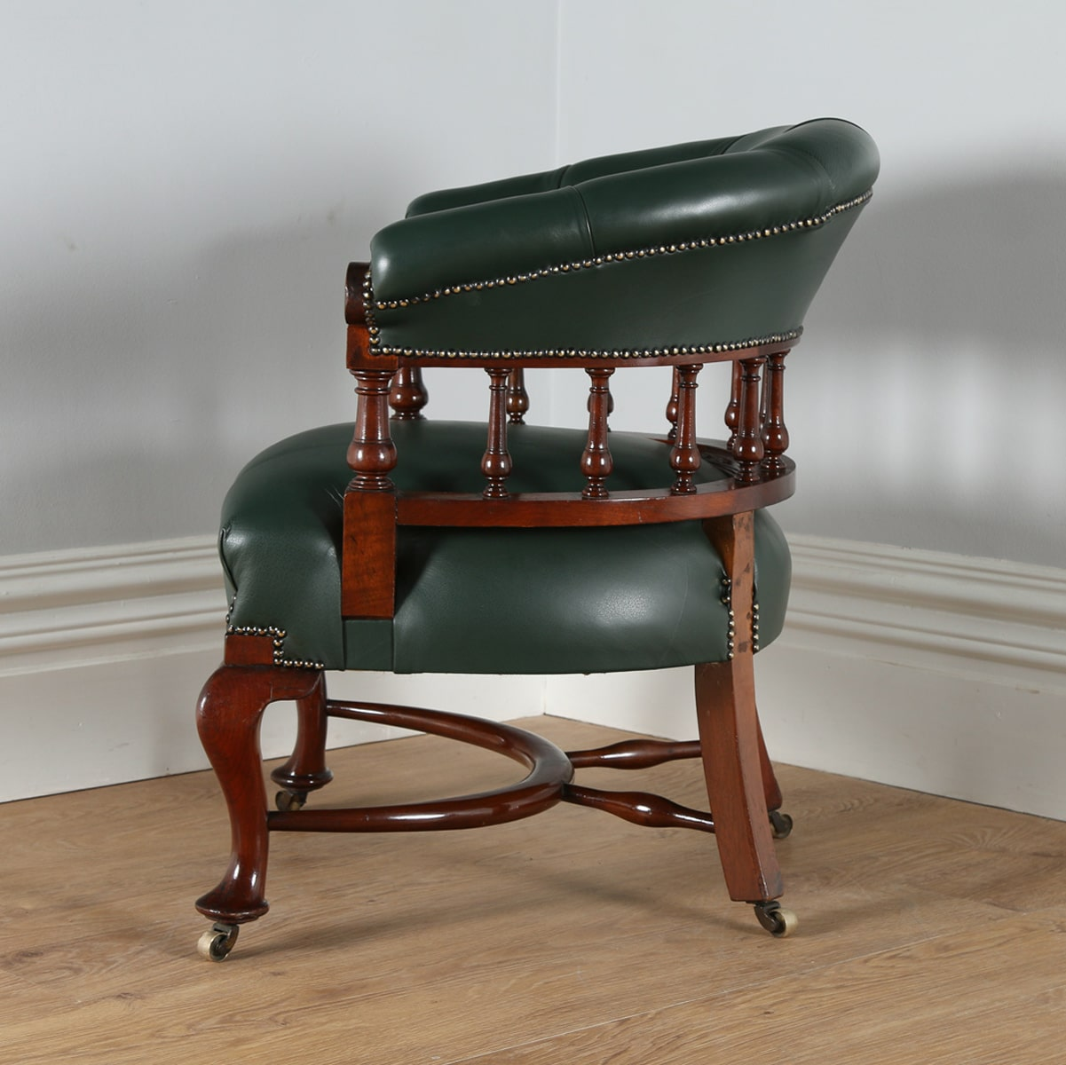 antique mahogany office chair hanging outdoor australia victorian green leather desk