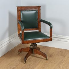 Revolving Chair For Kitchen Elegant Dining Chairs Antique Adams Style Oak Office Desk Circa