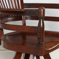 Revolving Chair For Kitchen Office Malaysia Antique Victorian Mahogany Captain 39s Desk