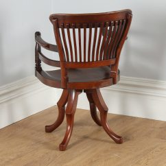 Revolving Desk Chair Stair Stryker Antique Victorian Mahogany Captain 39s
