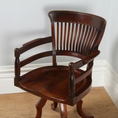 Revolving Desk Chair Resin Wicker Chairs Canada Antique Victorian Mahogany Captain 39s