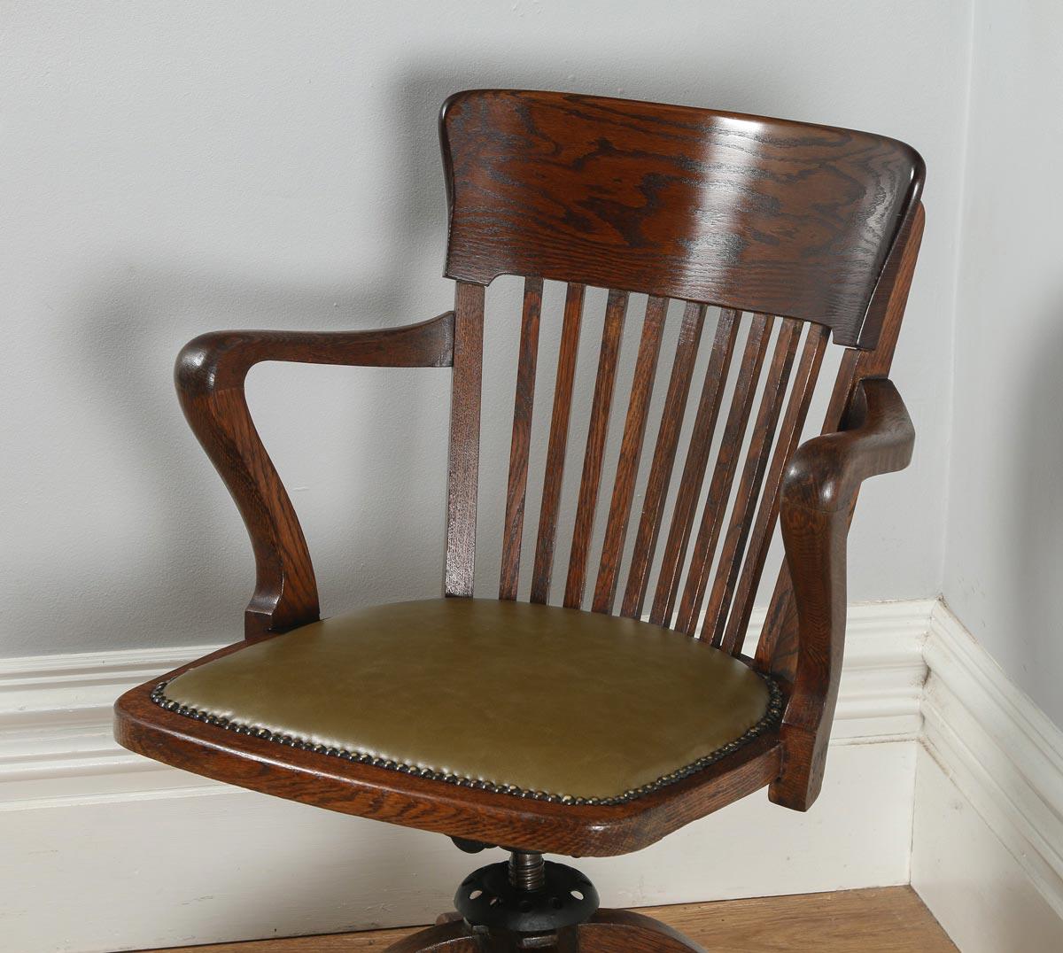revolving office armchair pub table and chairs 3 piece set 2 antique english edwardian oak desk arm