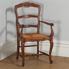 Antique Ladder Back Chairs With Rush Seats Folding Bamboo Set Of 12 French Louis Xv Style Oak