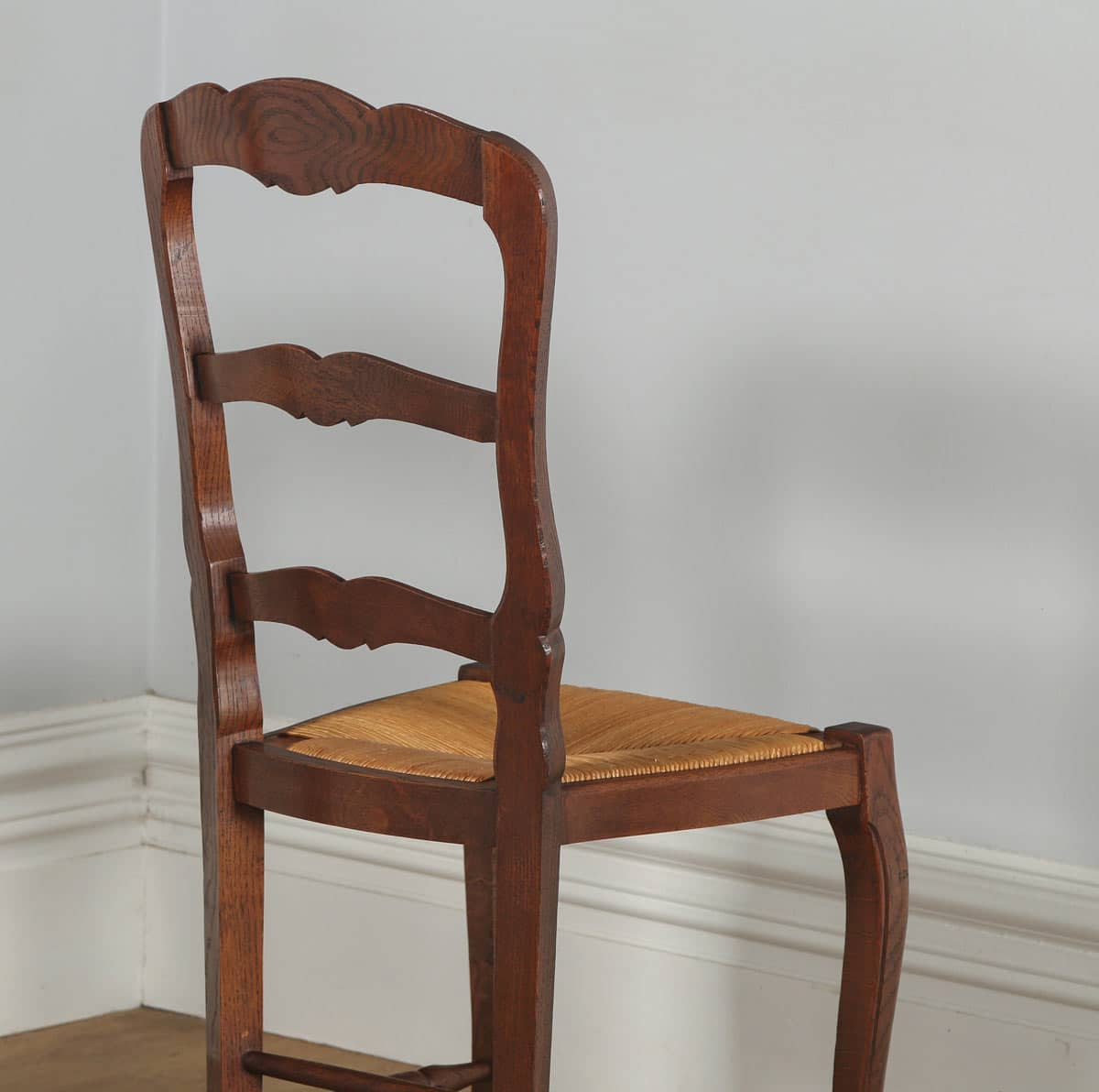 antique ladder back chairs with rush seats office chair adjustment levers set of 12 french louis xv style oak