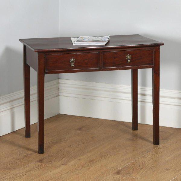 Antique English Georgian Mahogany Occasional Hall Side Table (Circa 1800)- yolagray.com